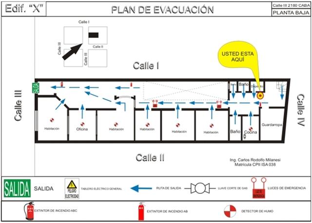 Planos De Evacuaci 243 N Matafuegos Iglesias